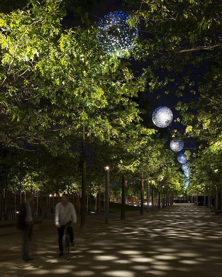Queen Elizabeth Olympic Park Landscape Lighting