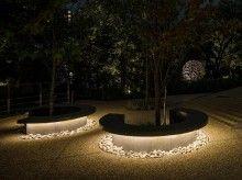 Landscape Seating Area Lighting