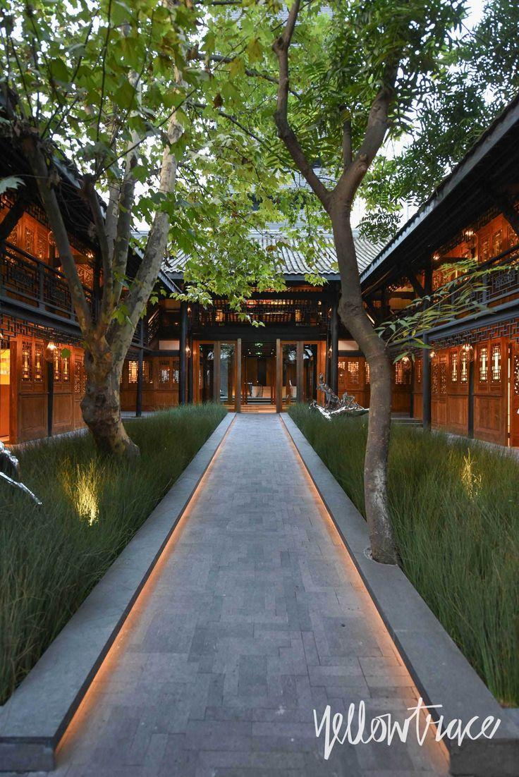 Walkway of the Temple House Lighting