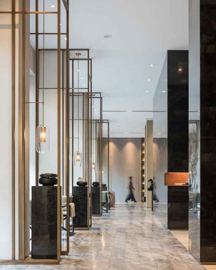 Modern Geometrical Hotel Lobby Interior